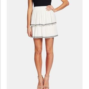 CeCe tiered embroidered skirt